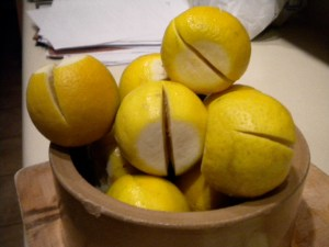 The almost quartered lemons