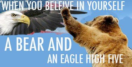 Bear+and+Eagle+High+Five