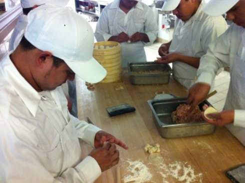 Dumpling making at Din Tai Fung
